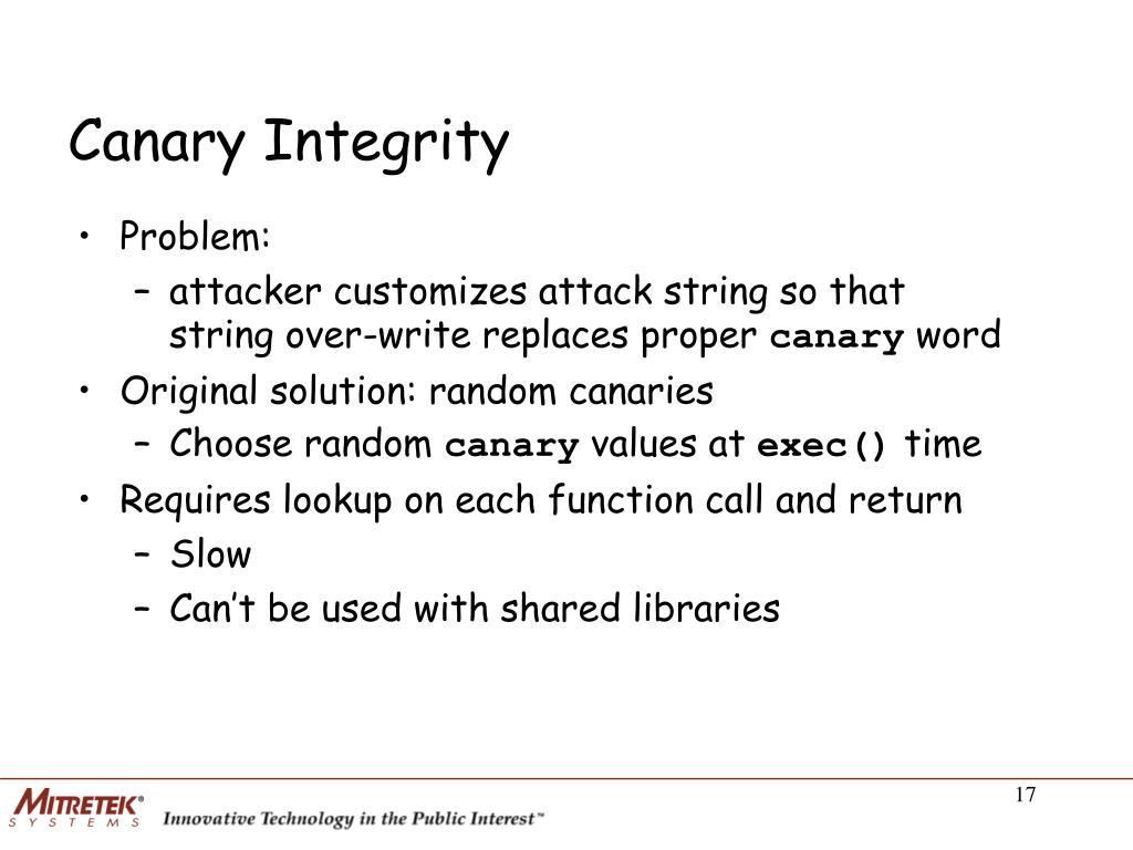 Canary Integrity