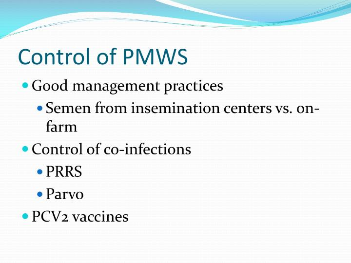 Control of PMWS