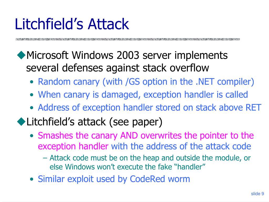 Litchfield's Attack