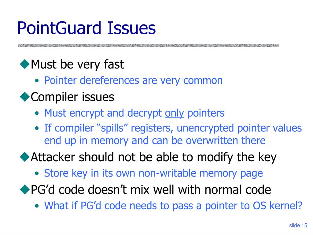 PointGuard Issues