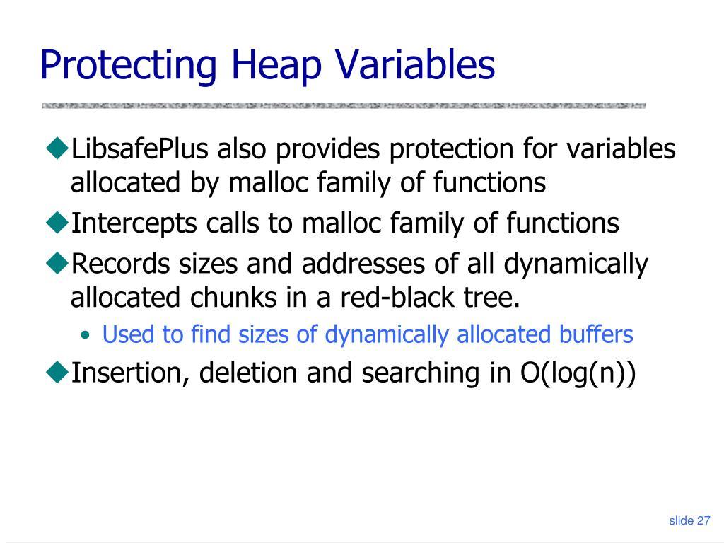 Protecting Heap Variables