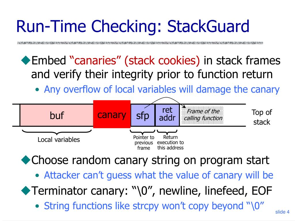 Run-Time Checking: StackGuard