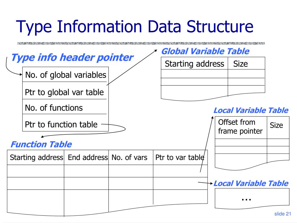 Type Information Data Structure