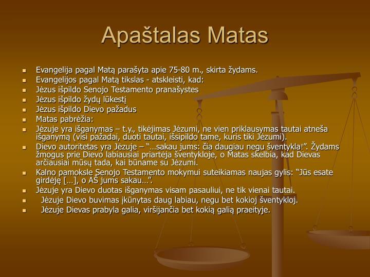 Apatalas Matas