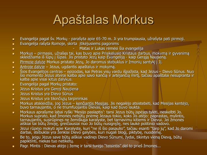 Apaštalas Morkus