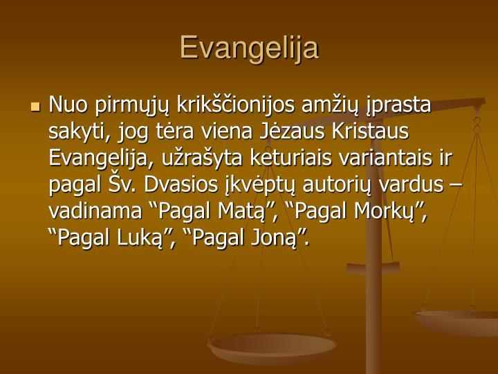 Evangelija