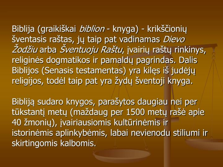 Biblija (graikikai