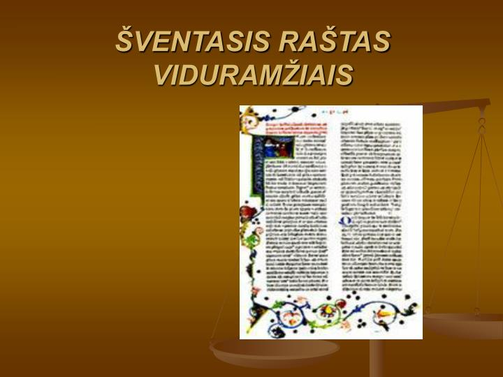 VENTASIS RATAS VIDURAMIAIS