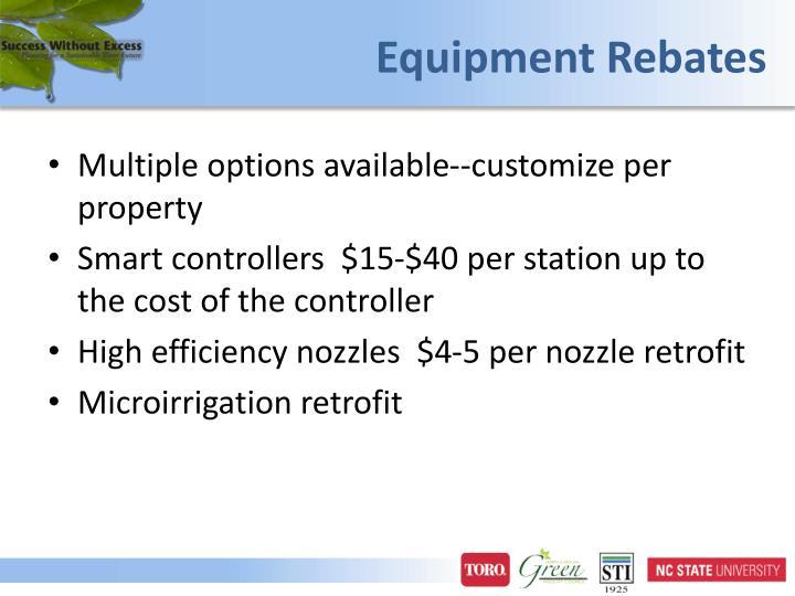 Equipment Rebates