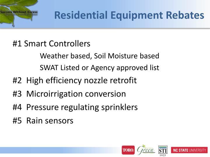 Residential Equipment Rebates