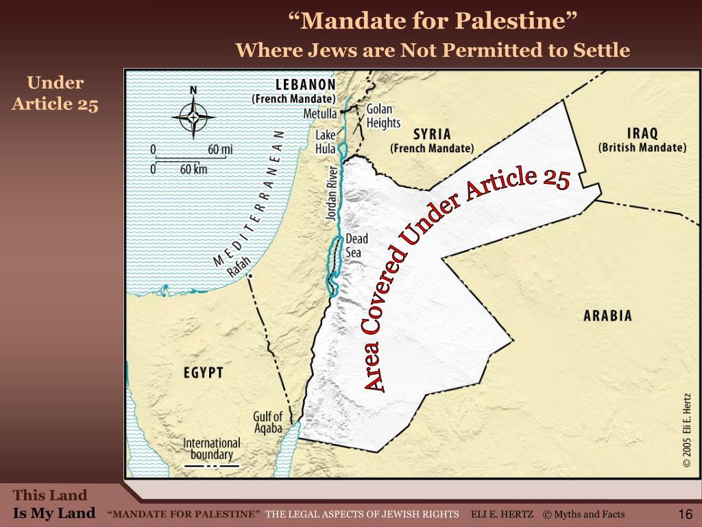 """Mandate for Palestine"""