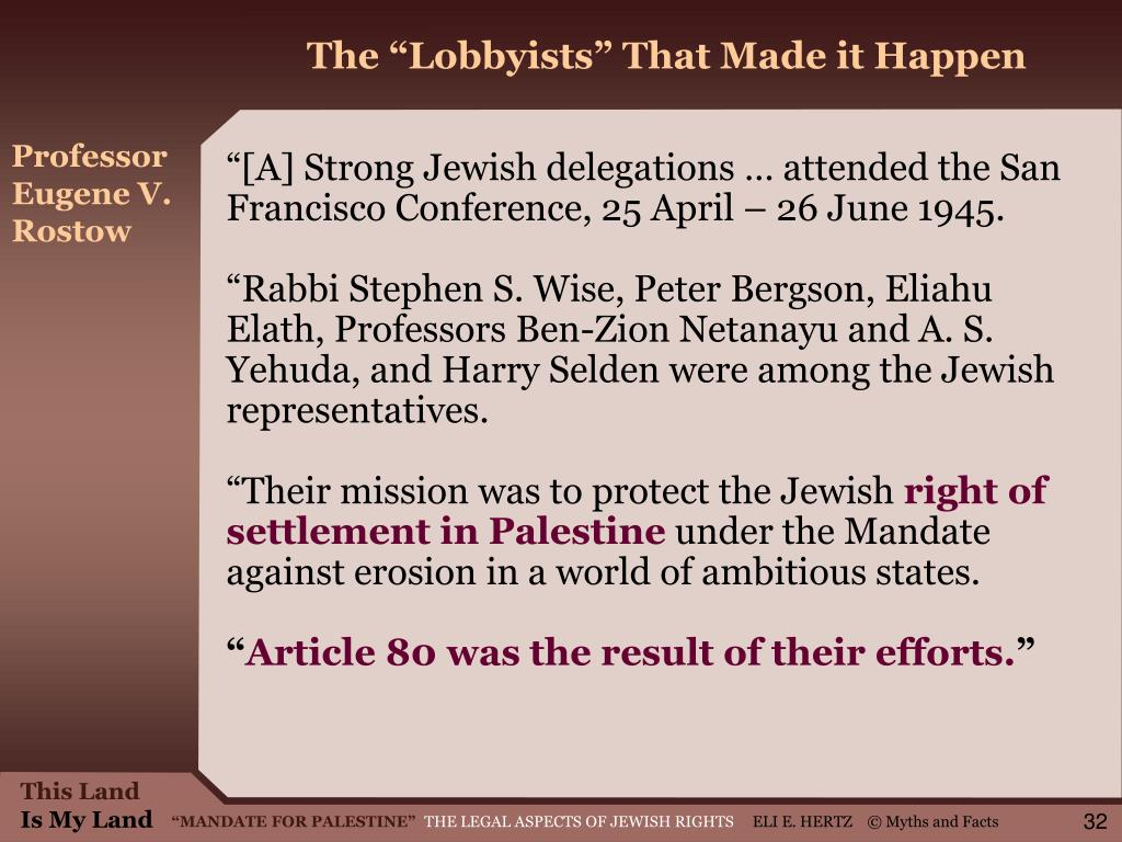 """The """"Lobbyists"""" That Made it Happen"""