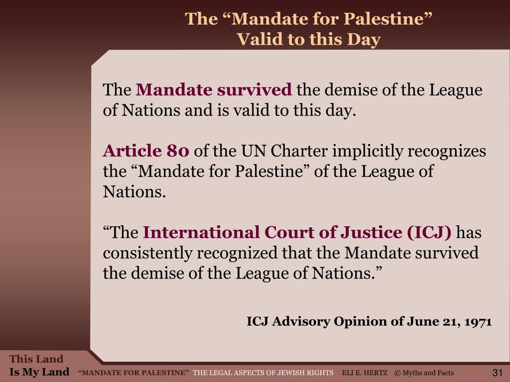 "The ""Mandate for Palestine"""