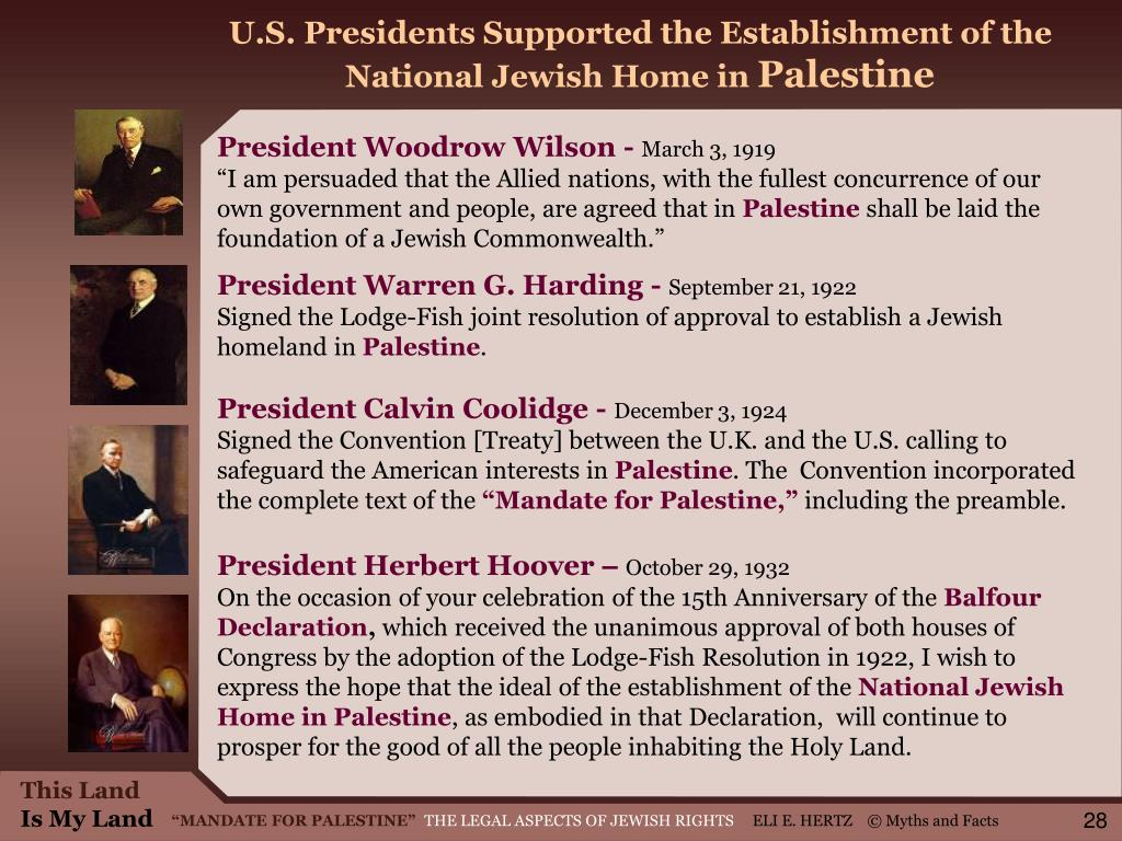 U.S. Presidents Supported the Establishment of the National Jewish Home in