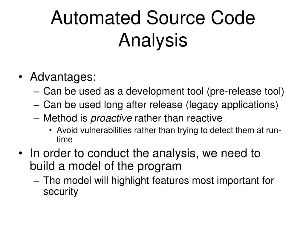 Automated Source Code Analysis