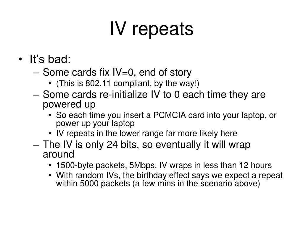 IV repeats