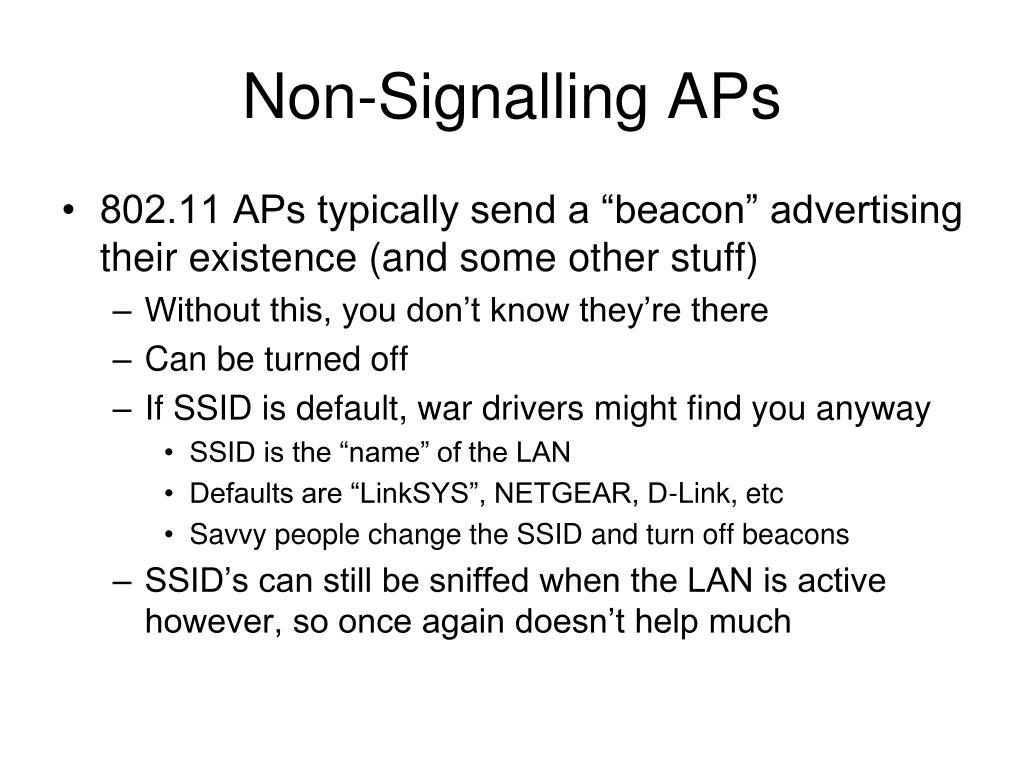 Non-Signalling APs