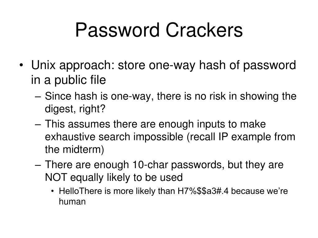 Password Crackers