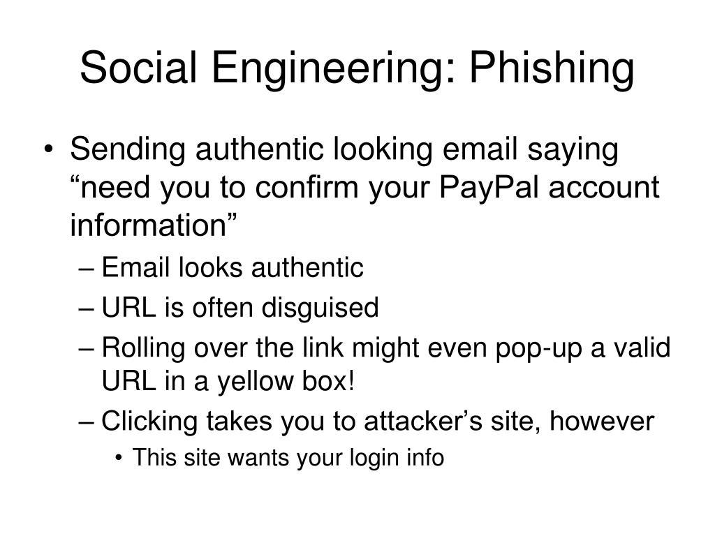 Social Engineering: Phishing