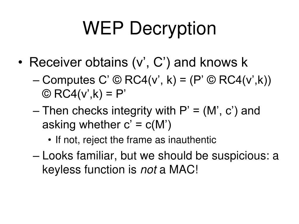 WEP Decryption