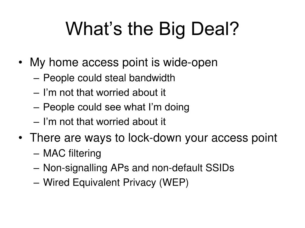 What's the Big Deal?