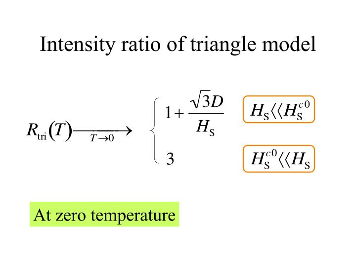 Intensity ratio of triangle model