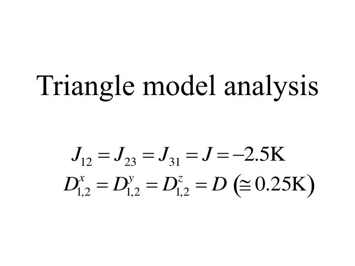 Triangle model analysis