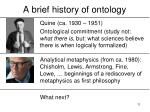 a brief history of ontology11