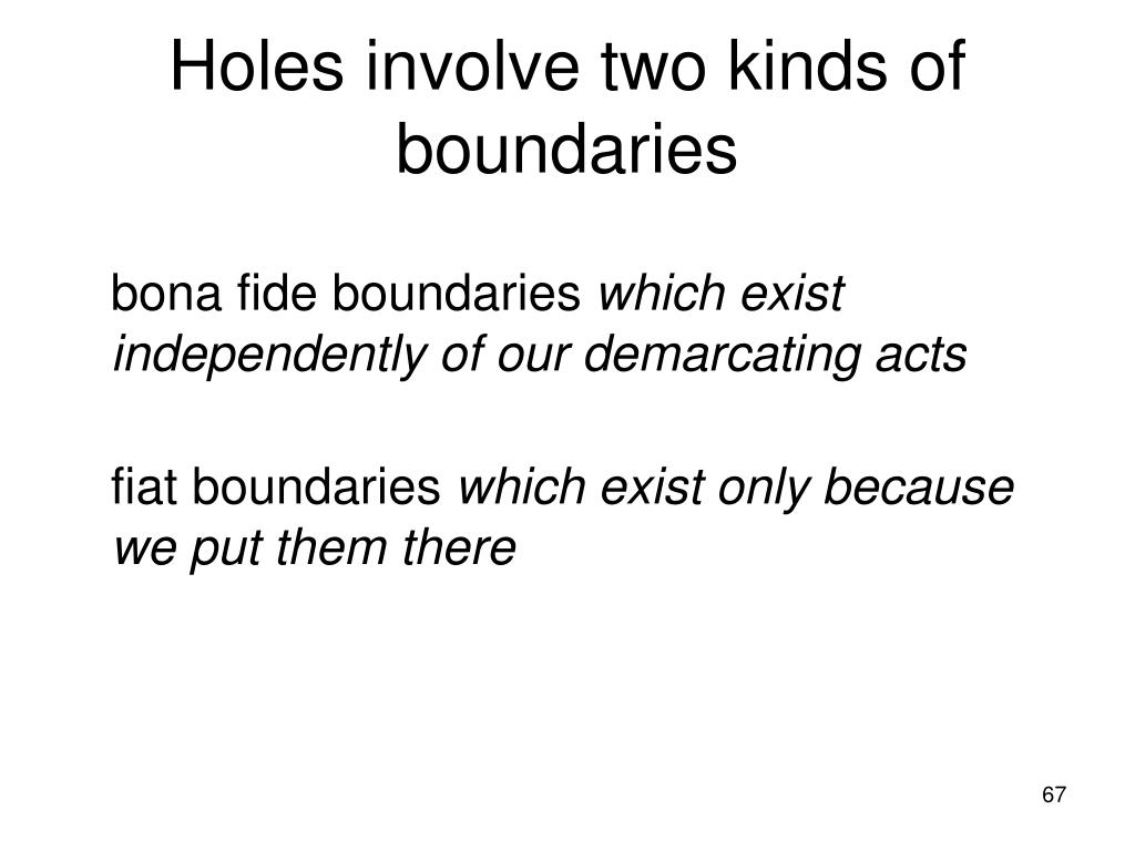 Holes involve two kinds of boundaries