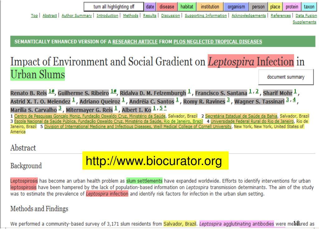http://www.biocurator.org