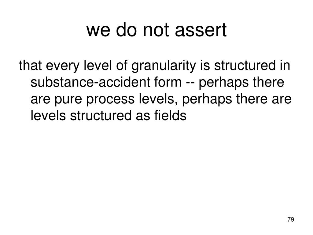 we do not assert