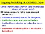 mapping the holding of manning dq4926