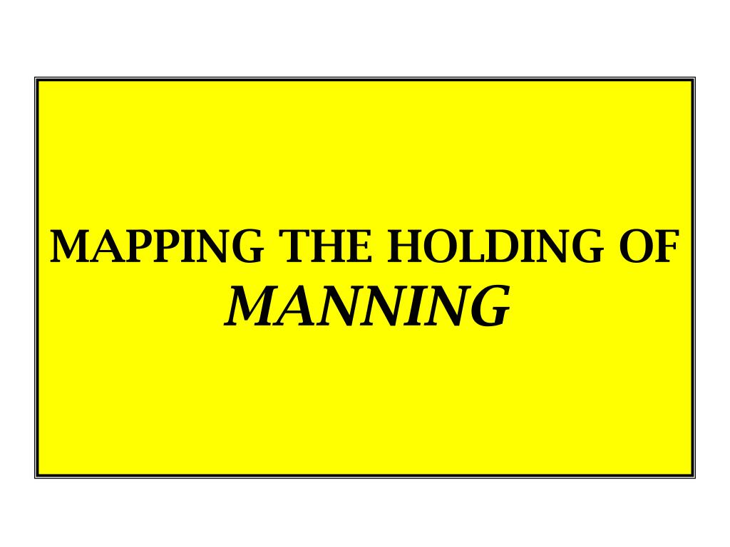 MAPPING THE HOLDING OF