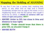 mapping the holding of manning12