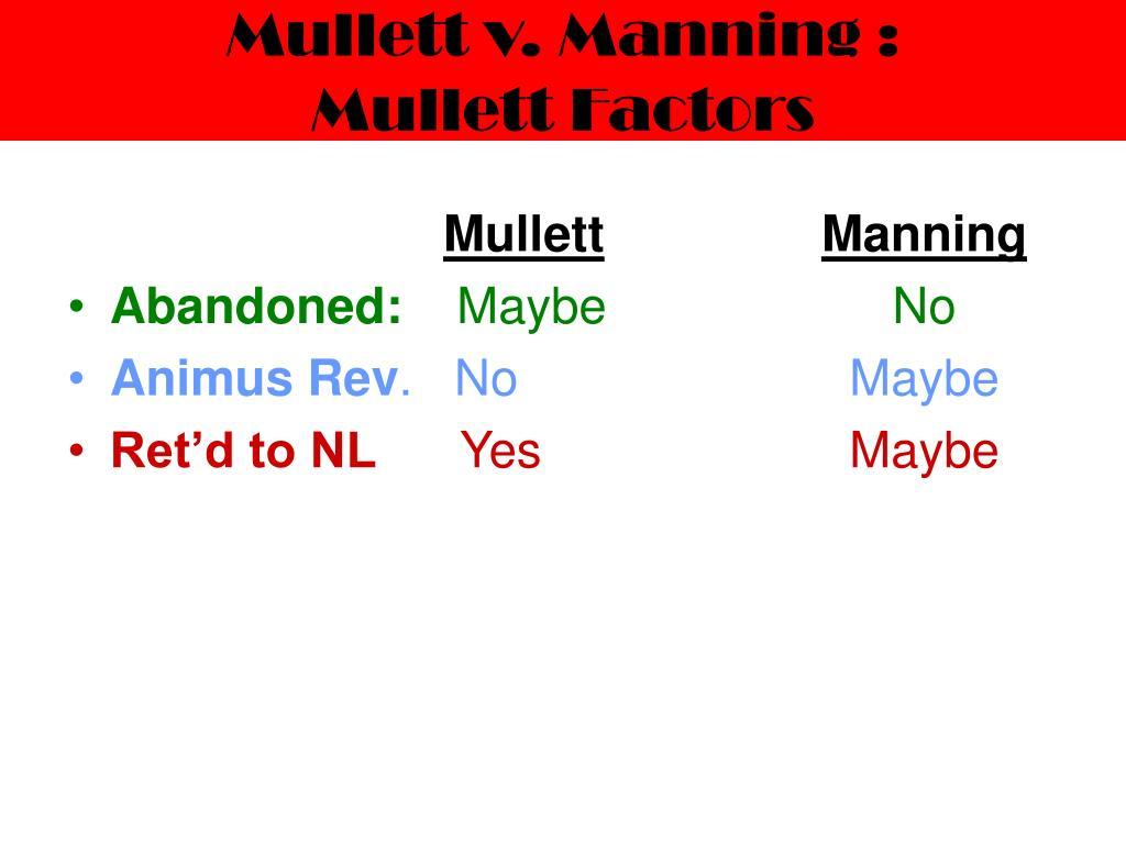 Mullett