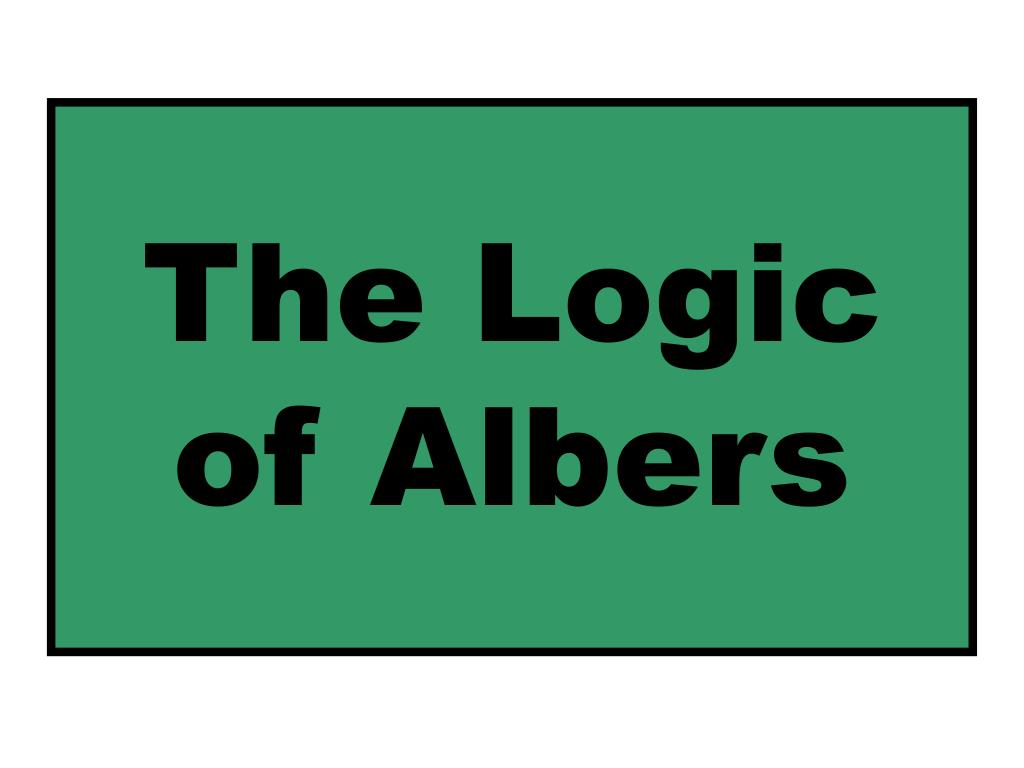 The Logic of Albers