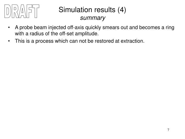 Simulation results (4)