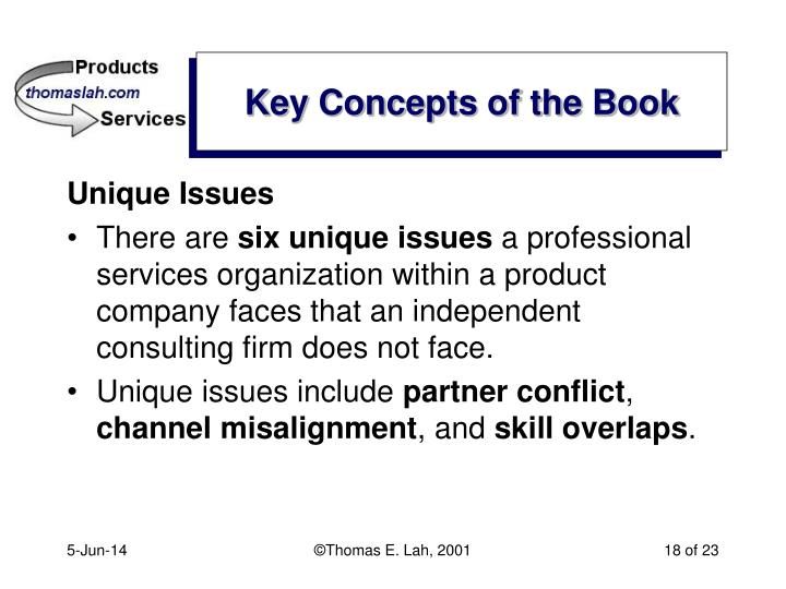 Key Concepts of the Book