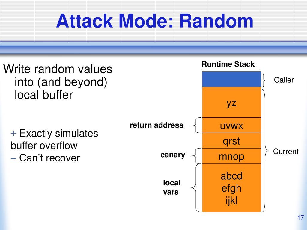 Attack Mode: Random