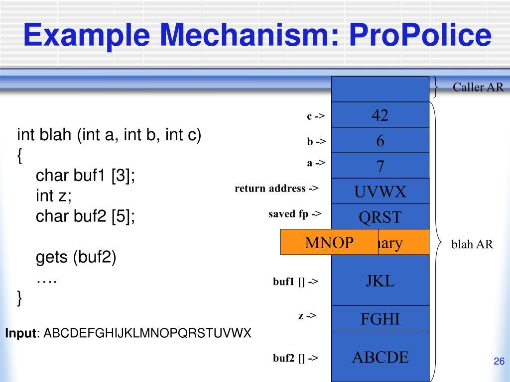 Example Mechanism: ProPolice