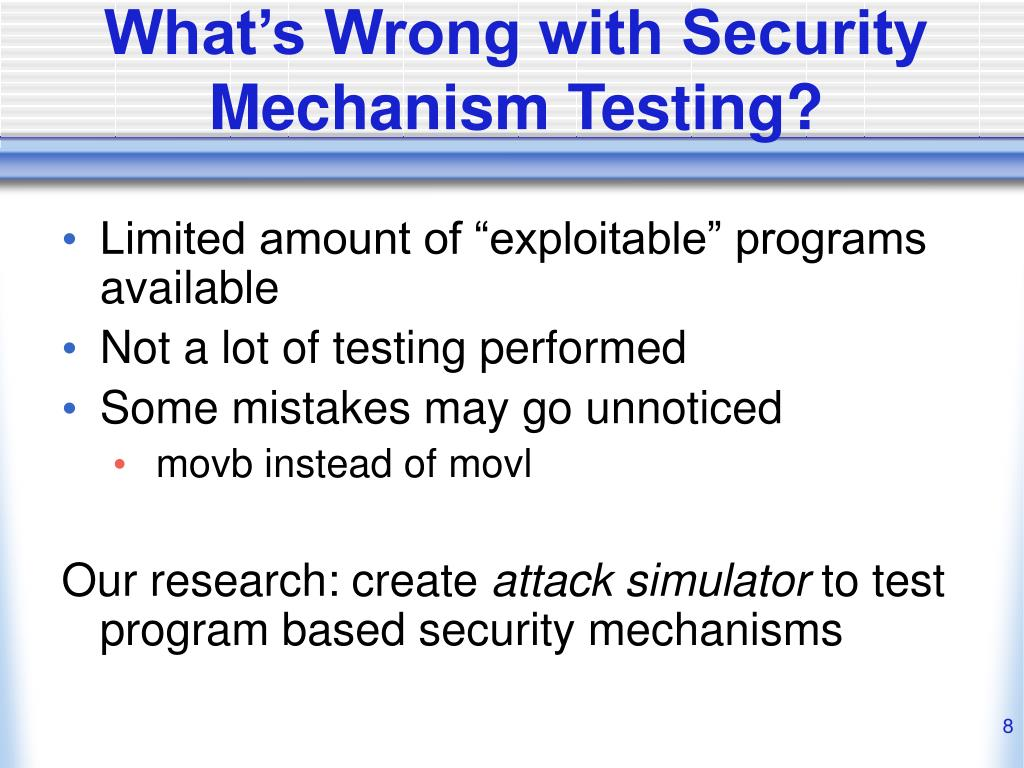What's Wrong with Security Mechanism Testing?