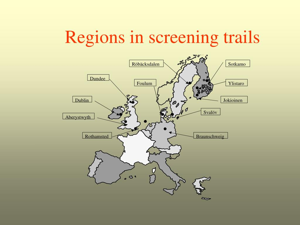 Regions in screening