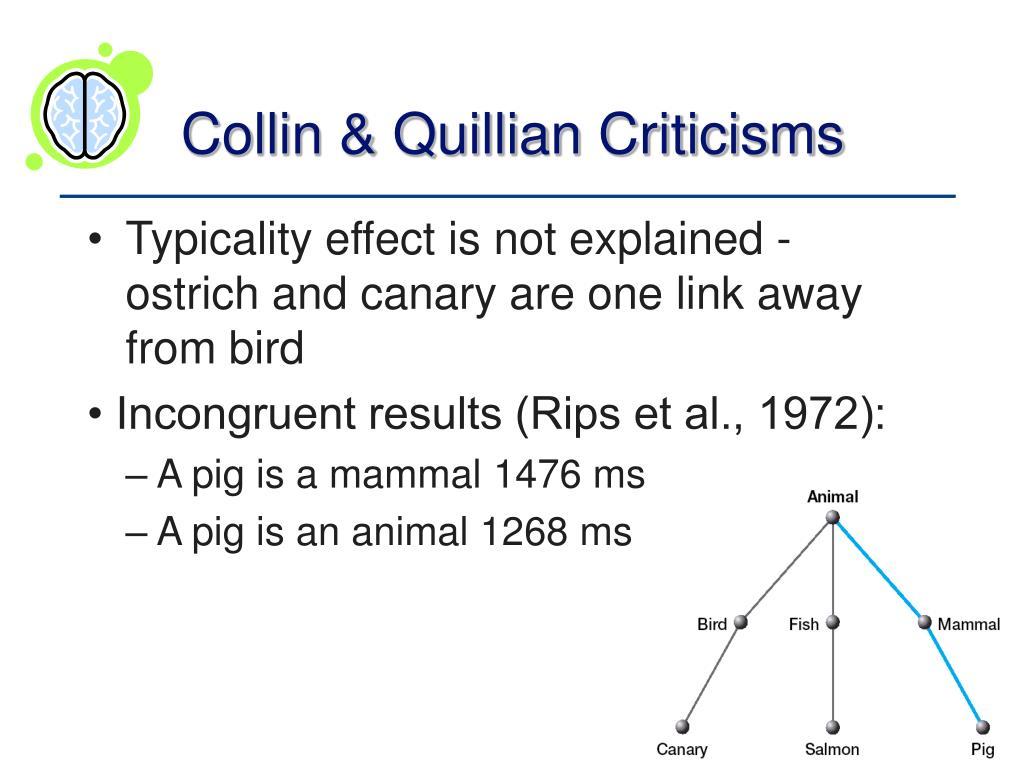Collin & Quillian Criticisms