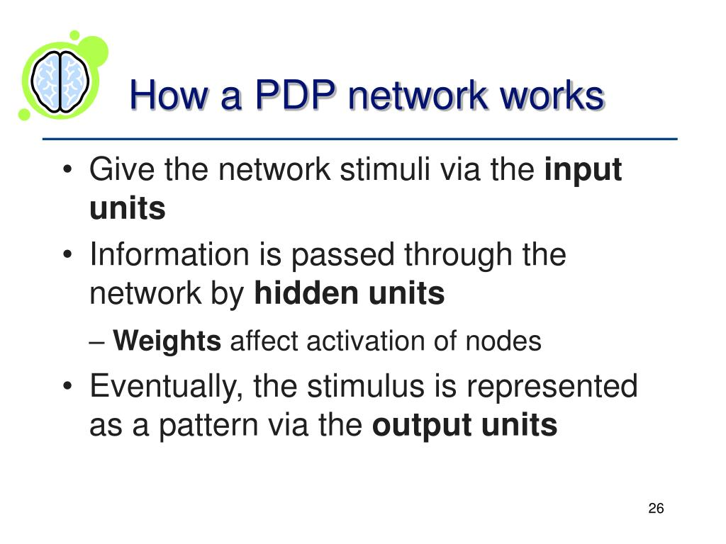 How a PDP network works