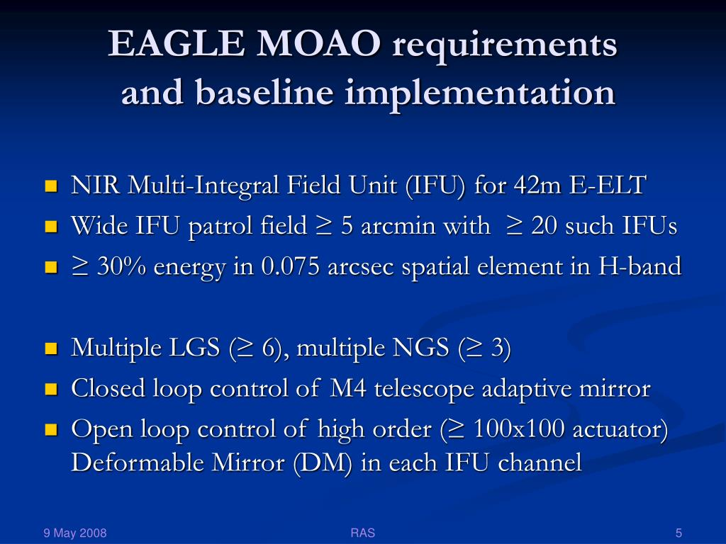 EAGLE MOAO requirements