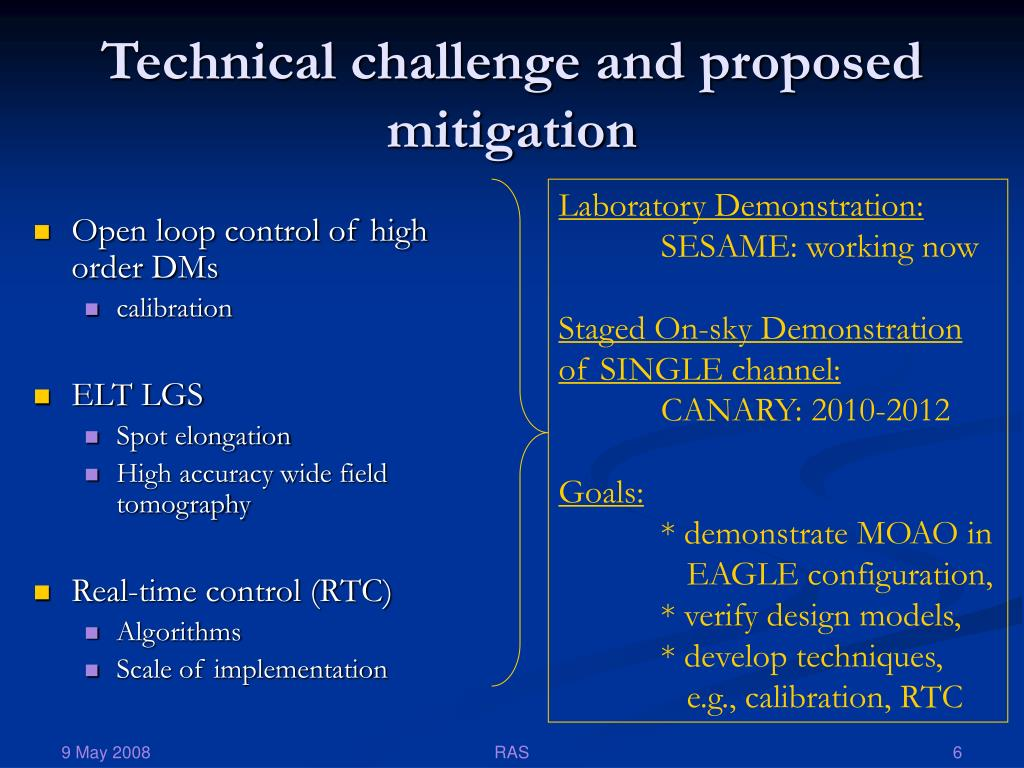 Technical challenge and proposed mitigation