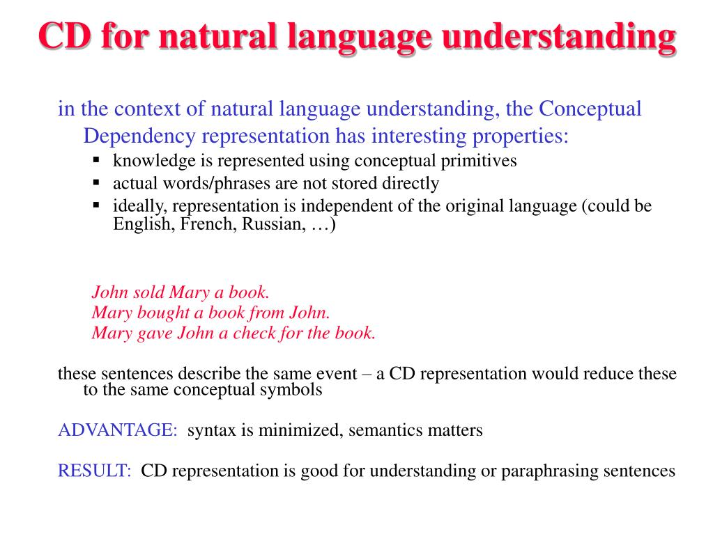 CD for natural language understanding