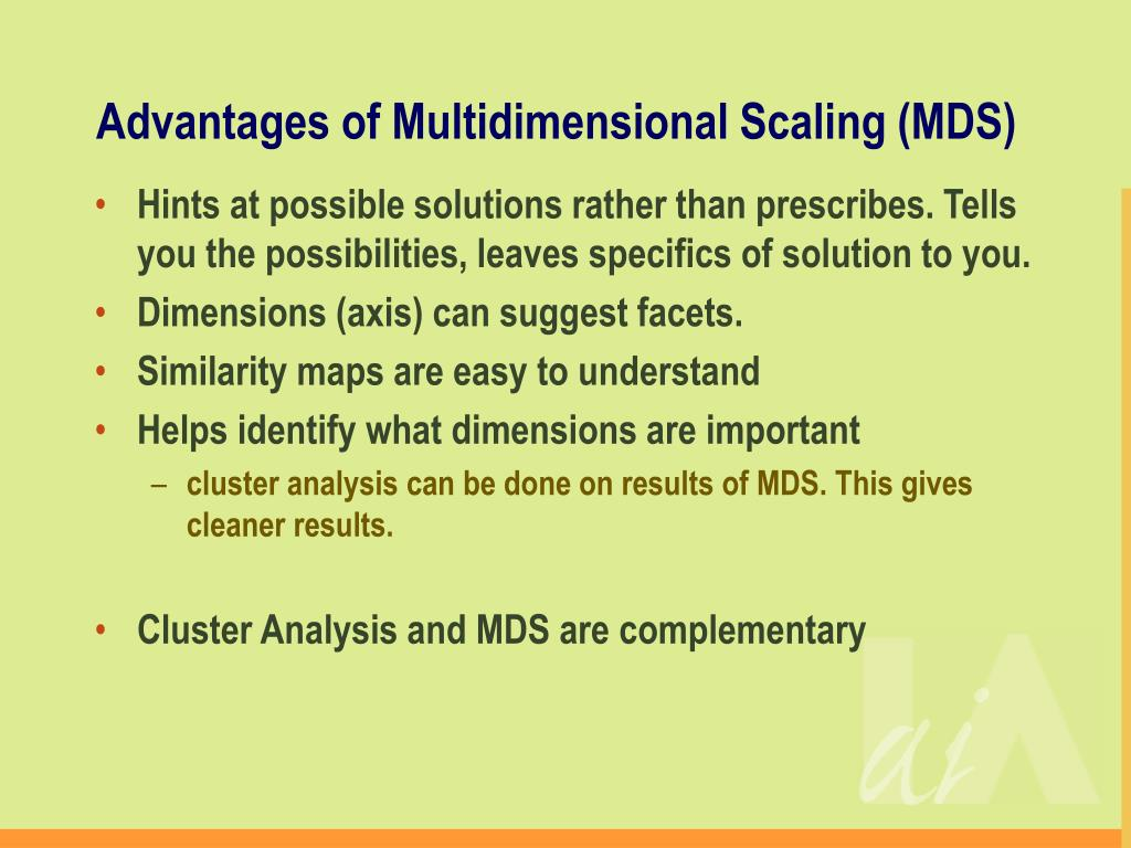 Advantages of Multidimensional Scaling (MDS)