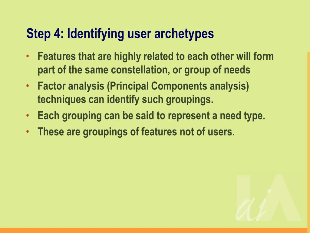 Step 4: Identifying user archetypes