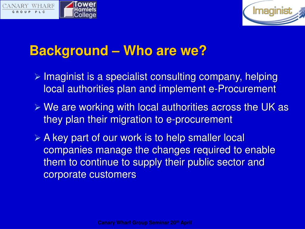 Background – Who are we?